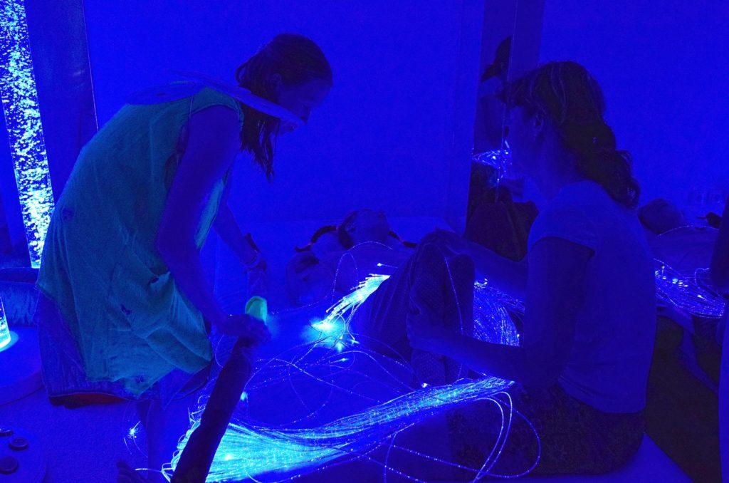 Foto Snoezelen modré světlo
